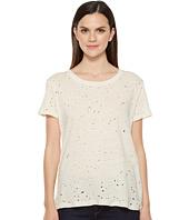 Michael Stars - Ripped Textured Jersey Short Sleeve Crew Neck
