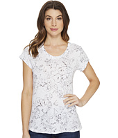 Michael Stars - Floral Print Short Sleeve Crew Neck Tee