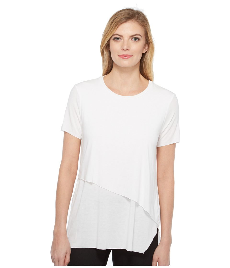 Michael Stars Jersey Double Layer Tee (White) Women
