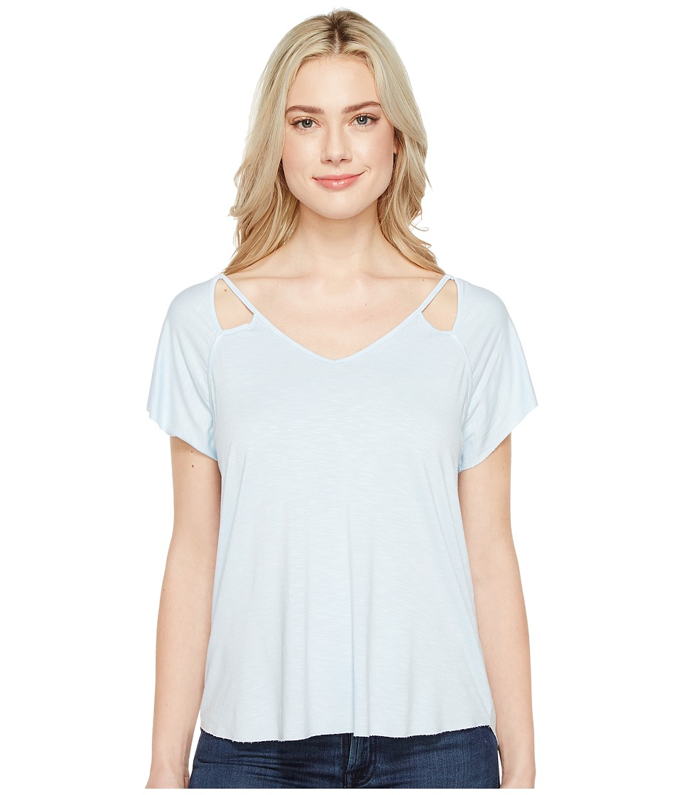 Michael Stars Mavie Slub Jersey V-Neck Tee (Clearwater) Women