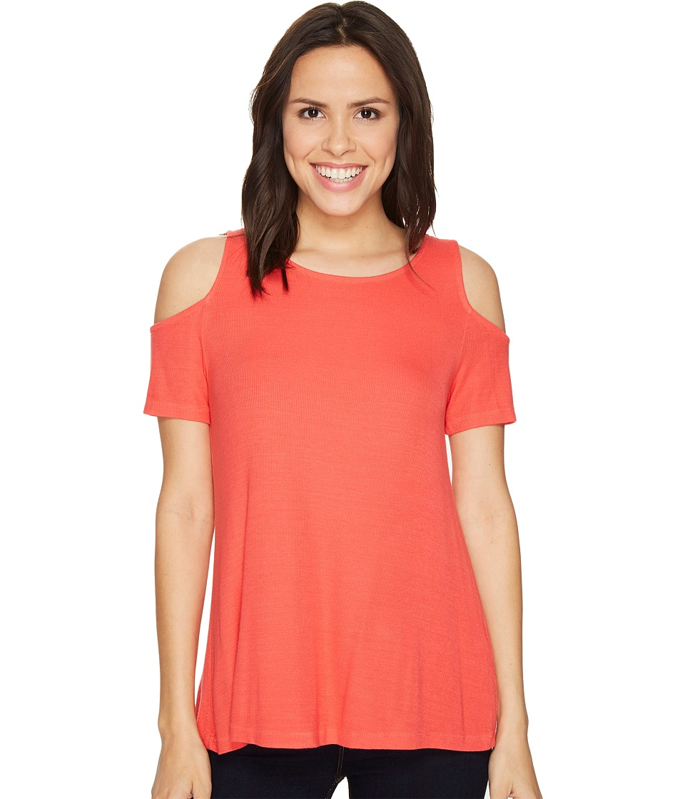 Michael Stars Michael Stars - 2X1 Rib Cold Shoulder Top