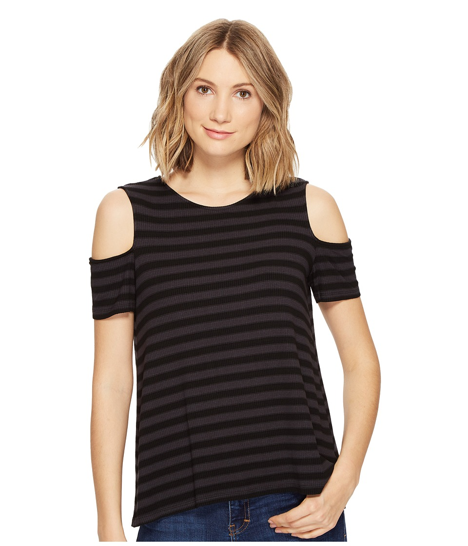 Michael Stars Sophie Stripe Cold Shoulder Tee (Oxide) Women