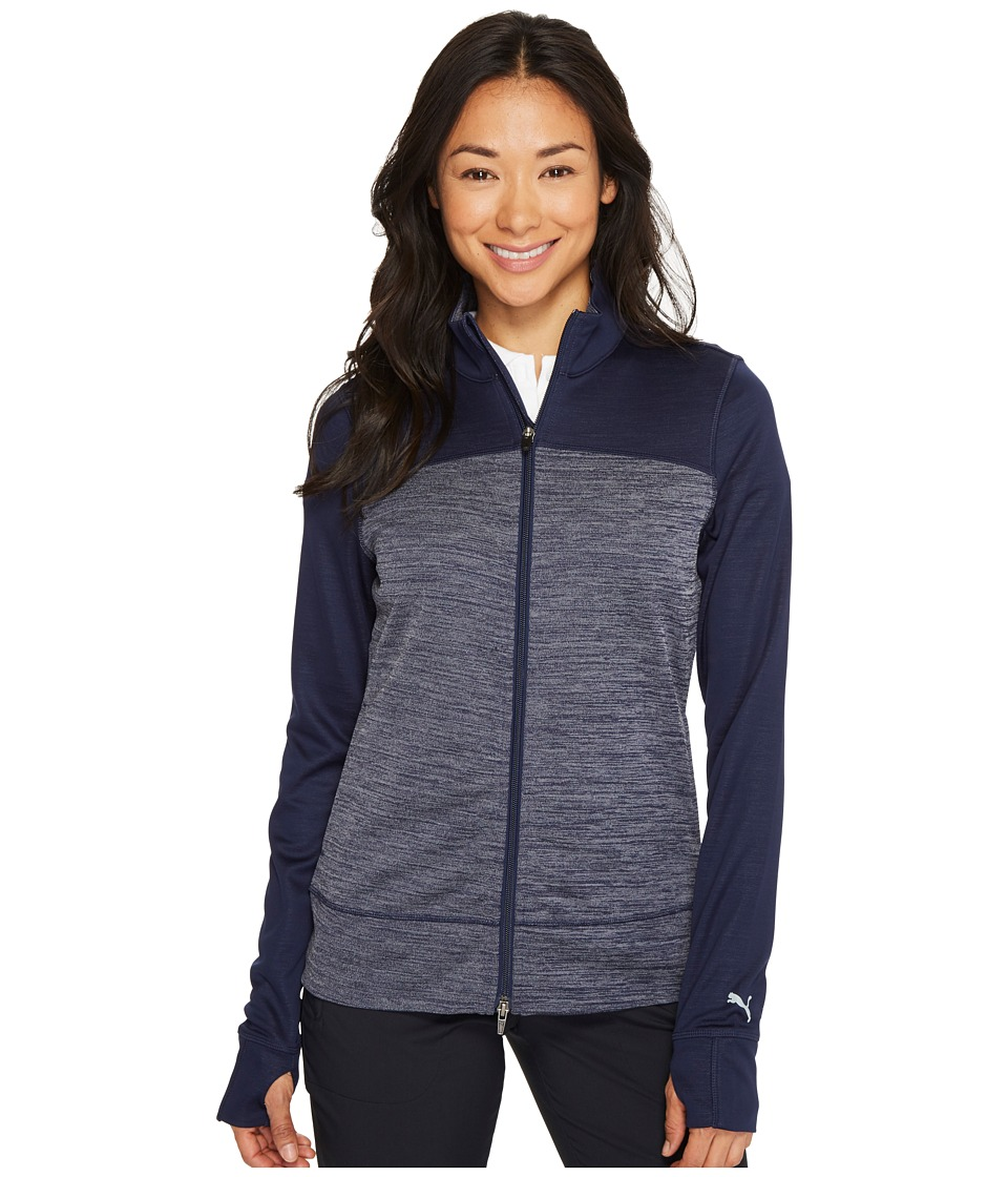 Puma Golf - Colorblock Full Zip Jacket (Peacoat) Women's ...