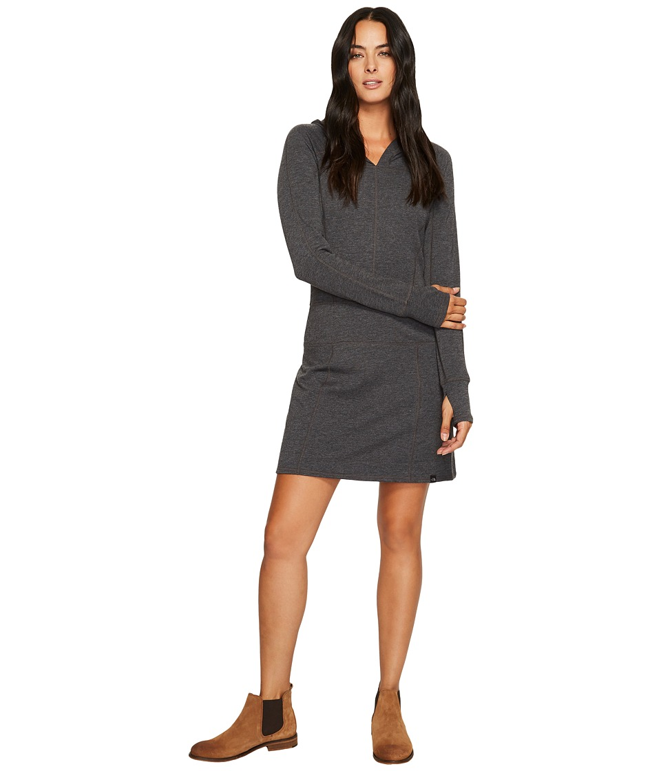 The North Face Long Sleeve TNF Terry Dress (TNF Dark Grey Heather) Women