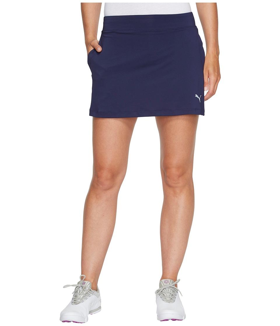 PUMA Golf Solid Knit Skirt (Peacoat) Women