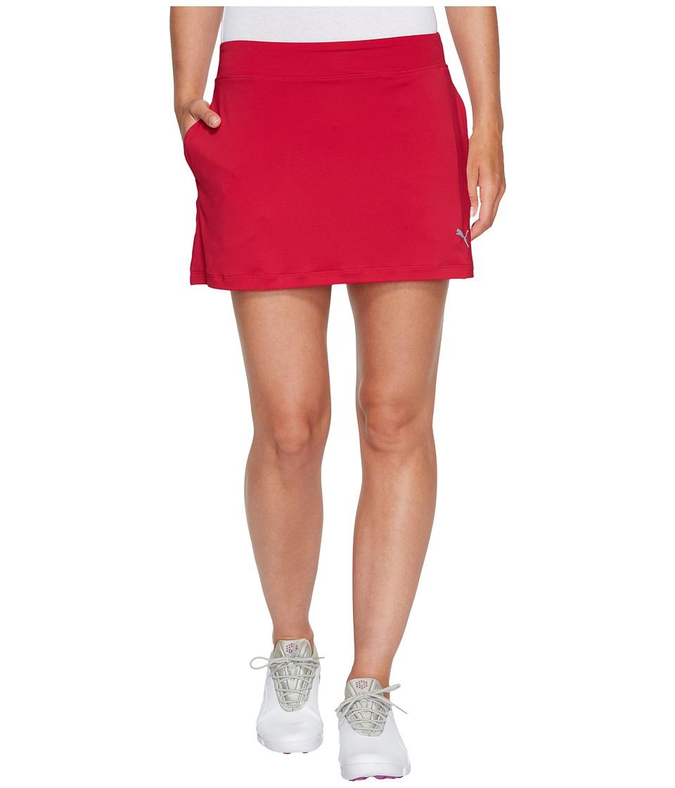 PUMA Golf Solid Knit Skirt (Love Potion) Women
