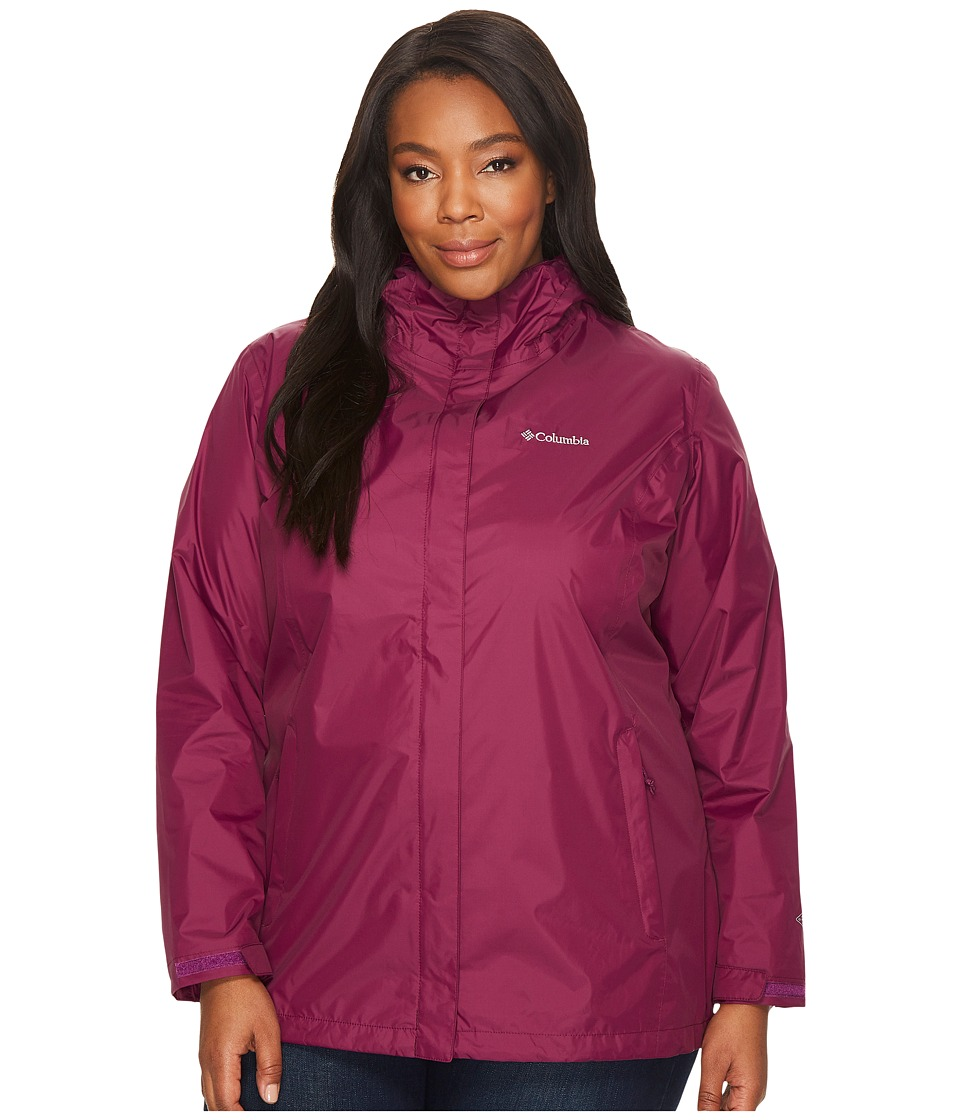 Columbia Plus Size Arcadia IItm Jacket (Dark Raspberry) Women