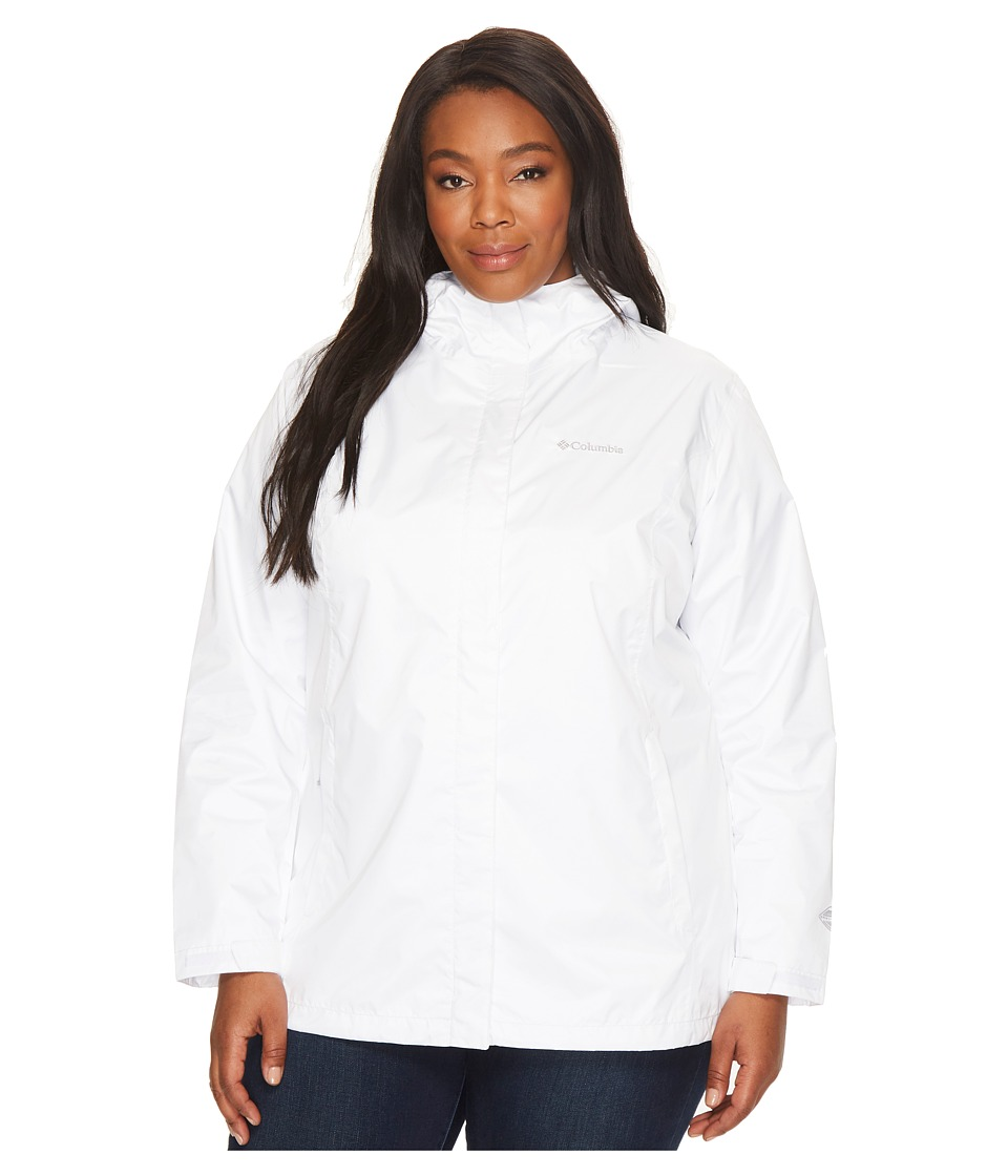 Columbia Plus Size Arcadia IItm Jacket (White/White) Women
