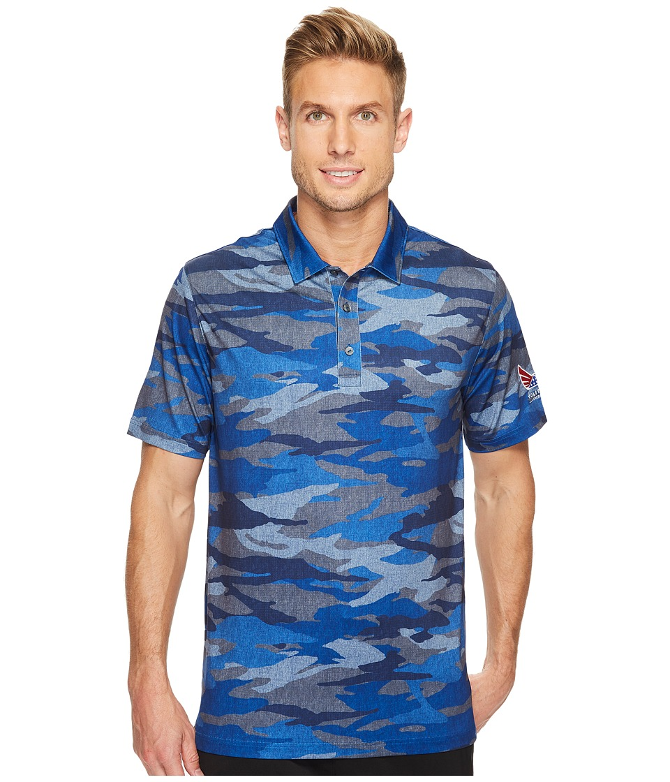 PUMA Golf - Volition Camo Polo (Peacoat) Mens Short Sleeve Knit