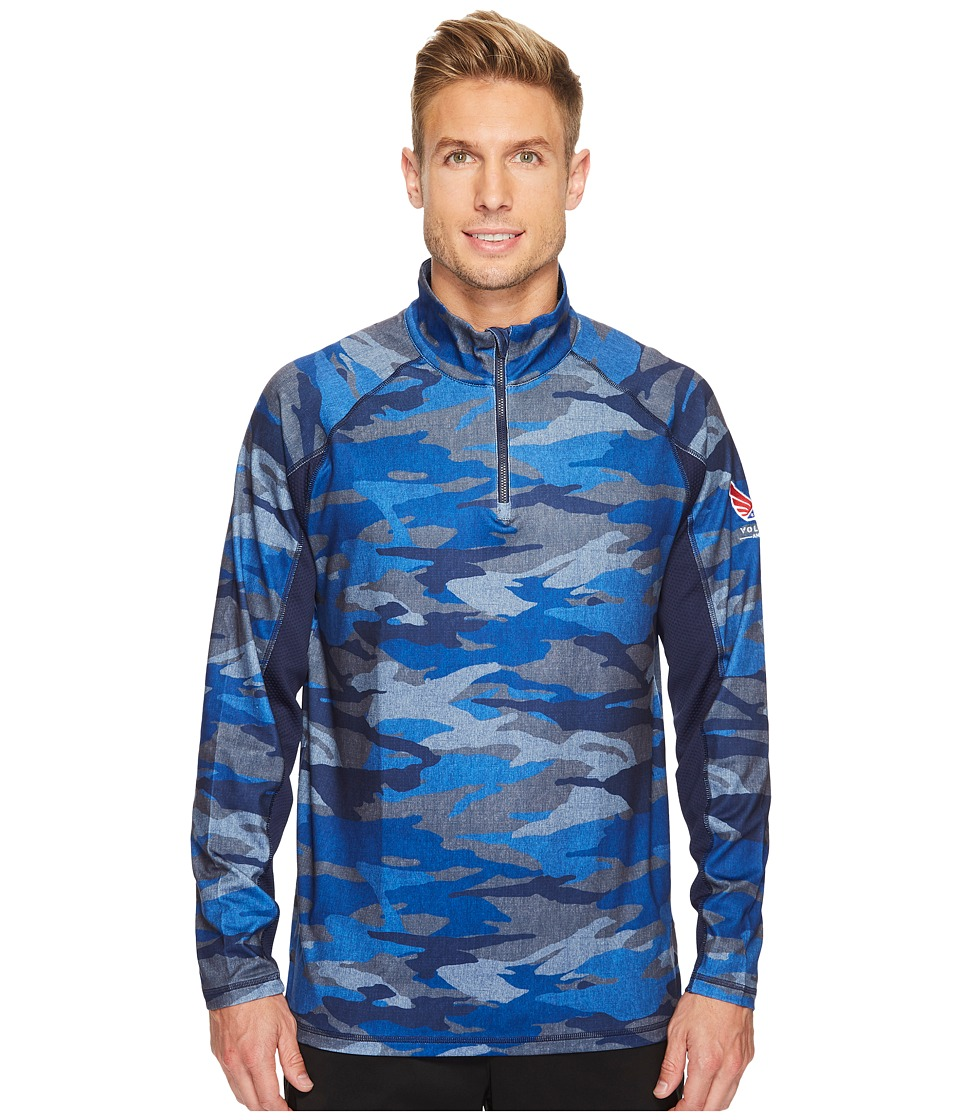 PUMA Golf - Volition Camo Popover (Peacoat) Mens Clothing
