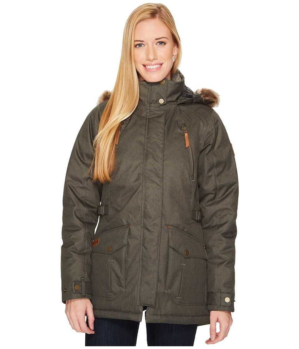 Columbia Barlow Pass 550 TurboDowntm Jacket (Gravel) Women