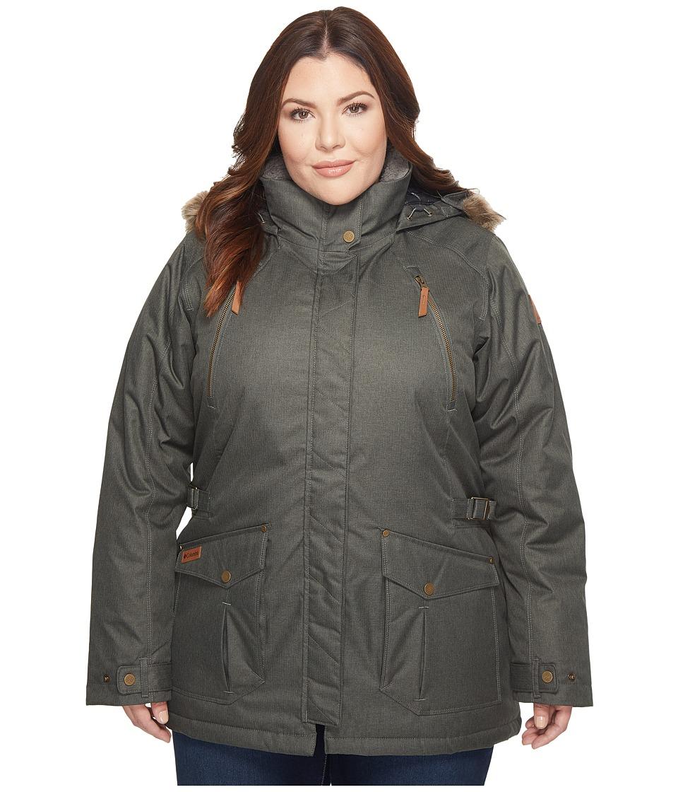 Columbia Plus Size Barlow Pass 550 TurboDown Jacket (Gravel) Women