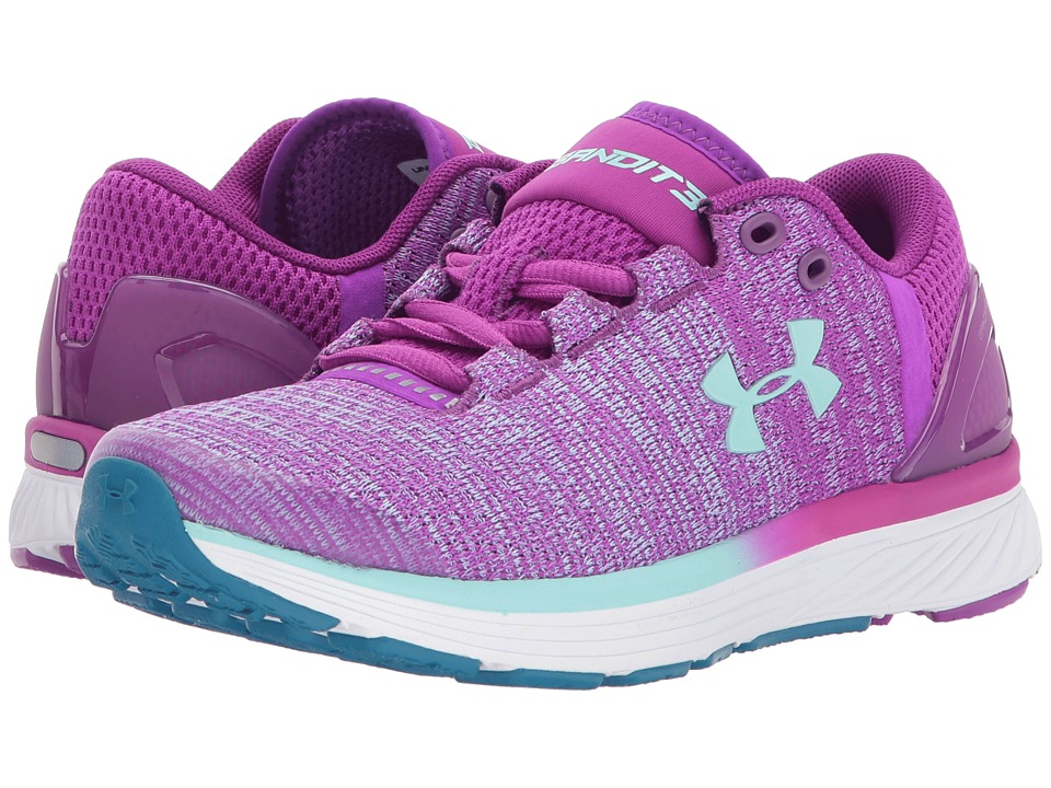 Under Armour Kids UA GGS Charged Bandit 3 (Big Kid) (Purple Rave/White/Blue Infinity) Girls Shoes