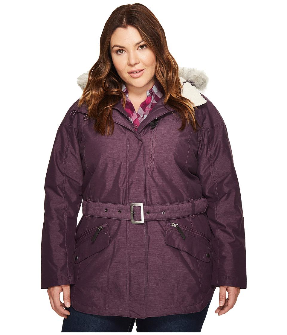Columbia Plus Size Carson Pass II Jacket (Dusty Purple 1) Women