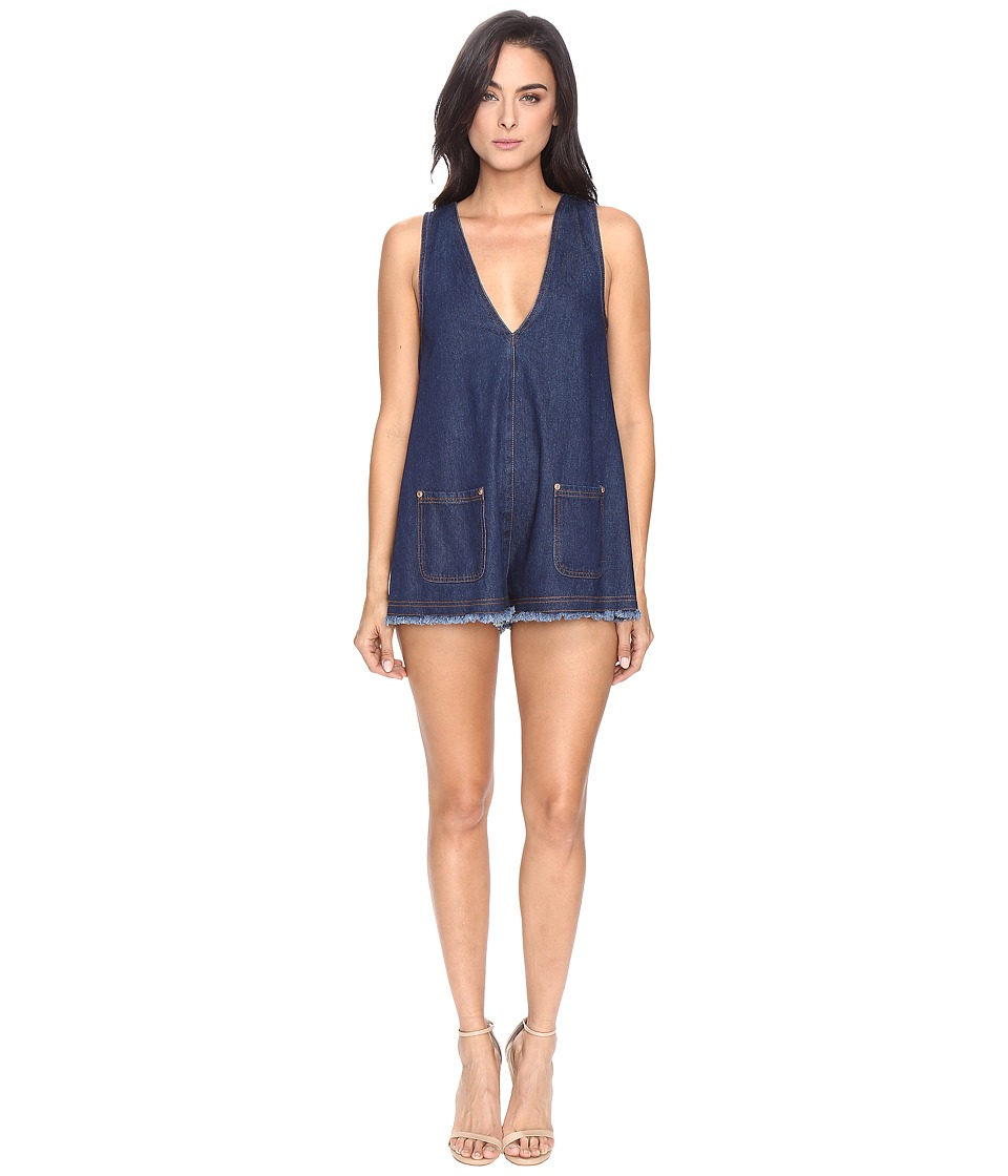 Image of alice McCALL - S.O.S Playsuit (Denim 2) Women's Jumpsuit & Rompers One Piece