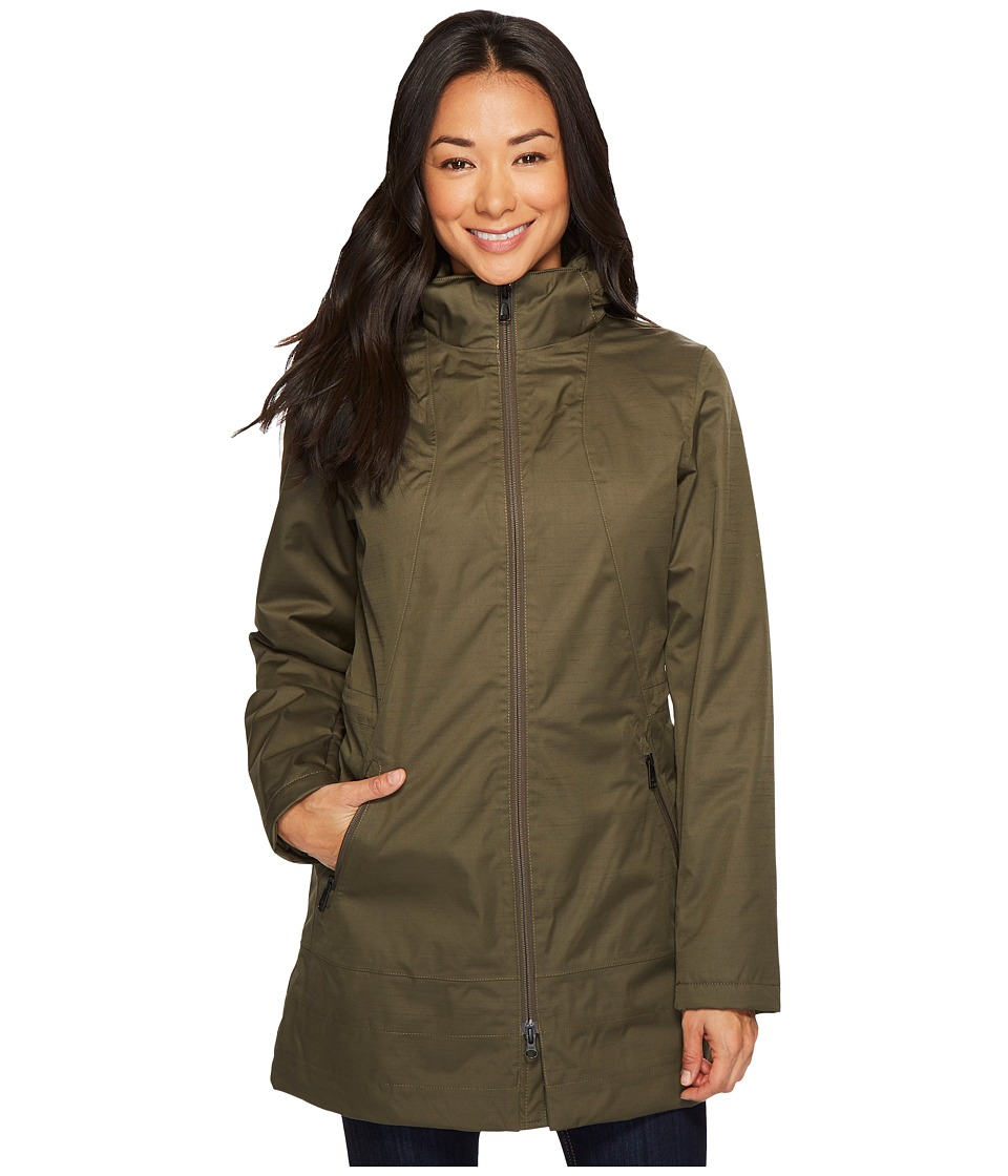 The North Face - Insulated Ancha Parka (New Taupe Green) Womens Coat