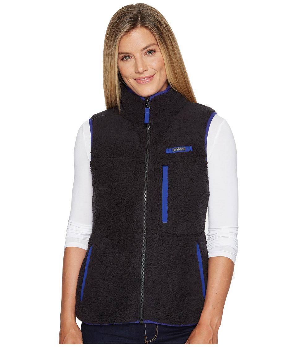 Columbia Mountain Side Heavyweight Fleece Vest (Black/Dynasty) Women