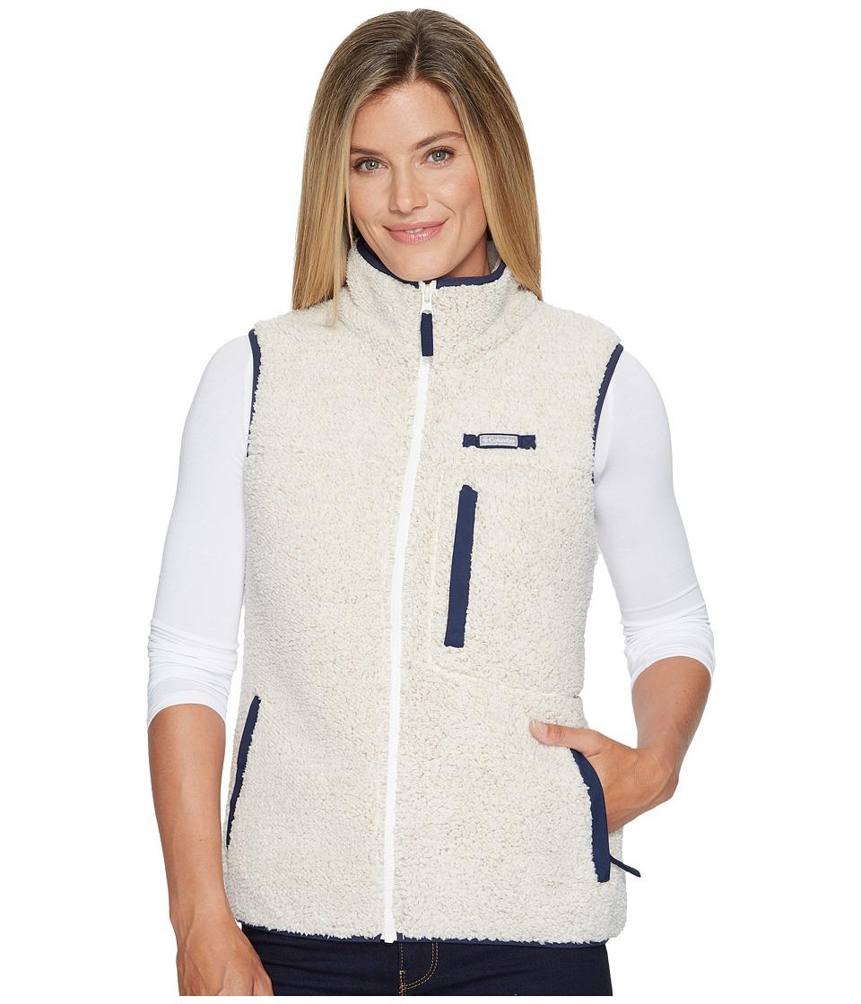 Columbia Mountain Side Heavyweight Fleece Vest (Chalk/Collegiate Navy) Women