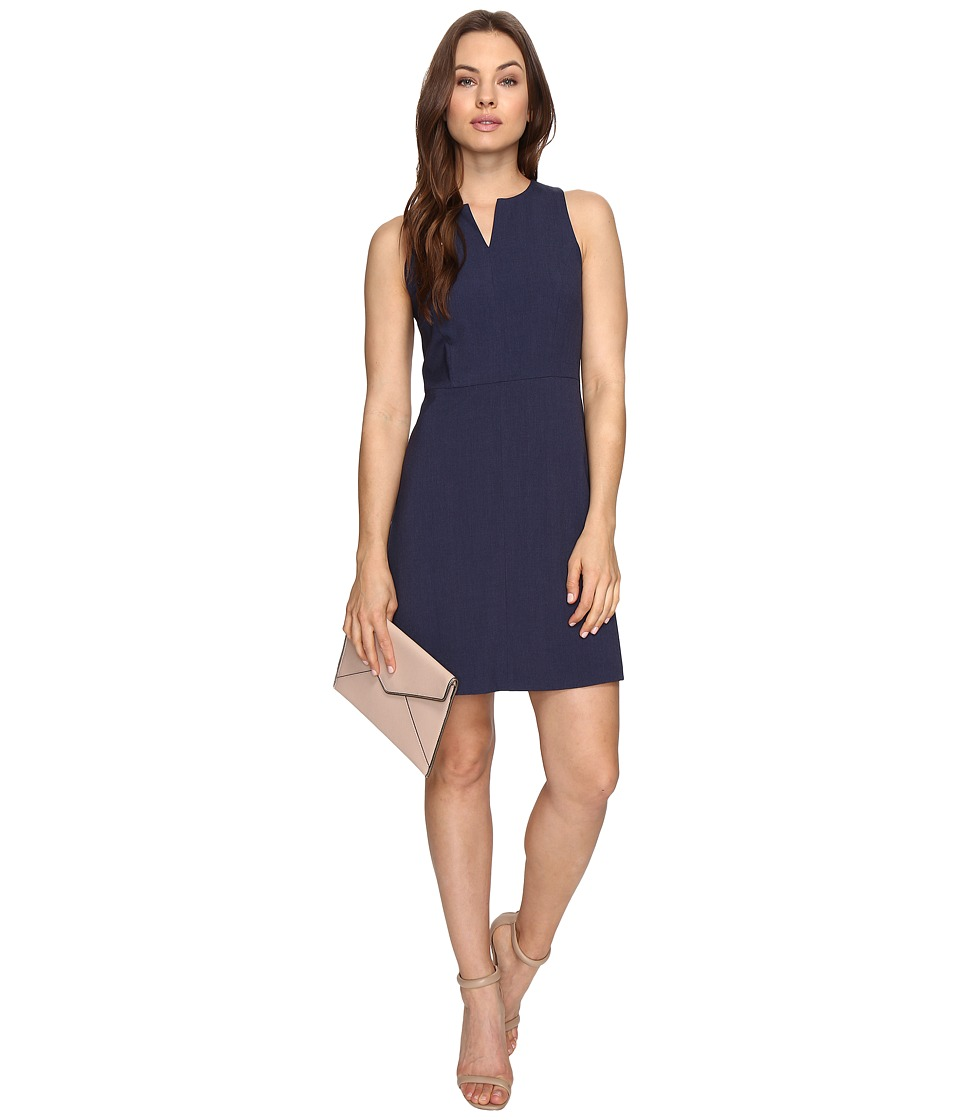 kensie - Heather Stretch Crepe Dress KS3K929S (Heather Navy) Womens Dress