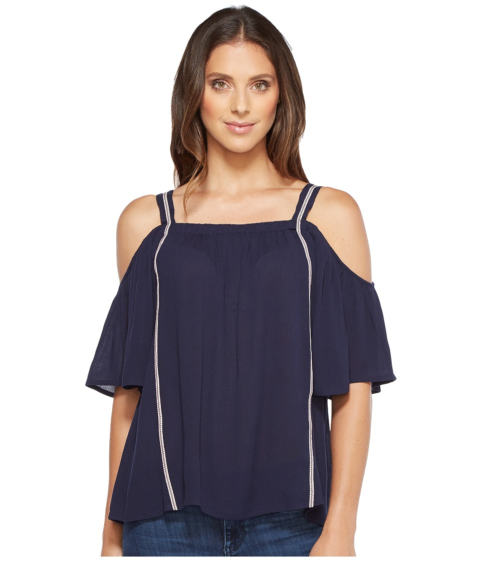 B Collection by Bobeau - Cold Shoulder Blouse