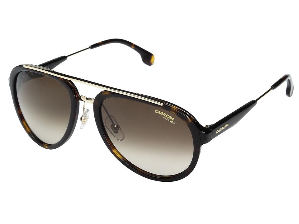 Carrera - Carrera 132/S (Havana Gold with Brown Gradient Lens) Fashion Sunglasses