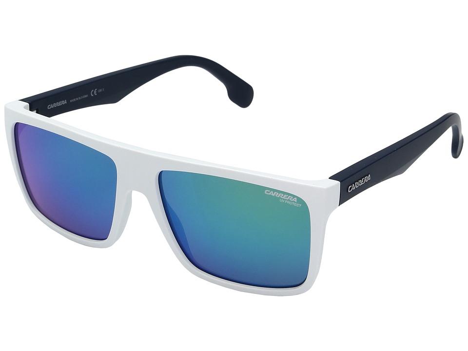 Carrera Carrera 5039/S (Matte White/Blue with Green Multilayer Lens) Fashion Sunglasses