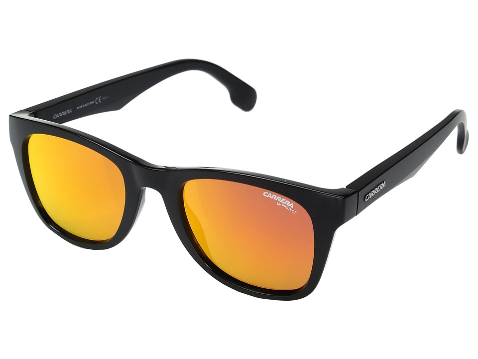 Carrera - Carrera 5038/S (Black Metalized with Red Mirror Lens) Fashion Sunglasses