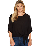 B Collection by Bobeau - 3/4 Sleeve Tie Front Blouse