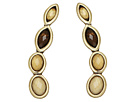Lucky Brand - Citrine and Mother-of-Pearl Earrings Crawler