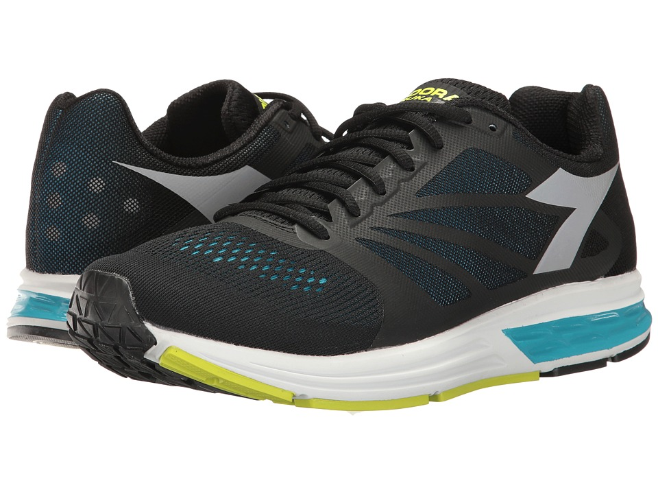 Diadora - Kuruka (Black/Fluo Blue) Men's Shoes