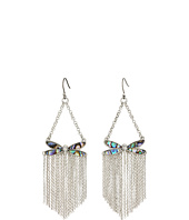 Lucky Brand - Abalone Dragonfly Fringe Earrings