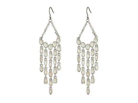Lucky Brand Mother-of-Pearl Chandelier Earrings - Silver