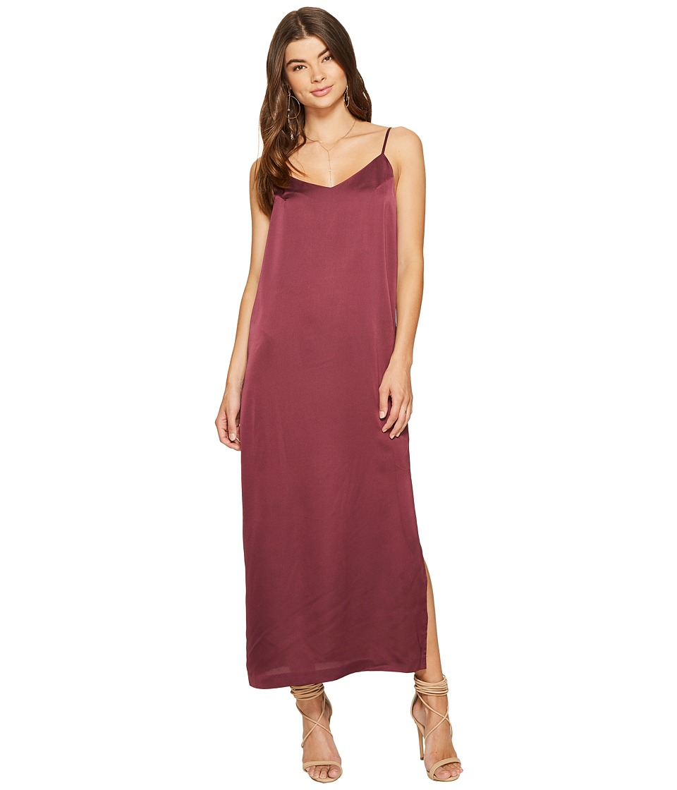 kensie Shiny Polyester Dress KS7U7133 (Berry Stain) Women