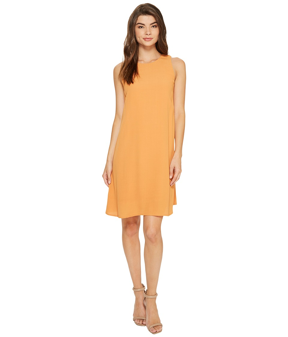 kensie Dainty Crepe Sleeveless Dress KS7K7994 (Burnt Orange) Women