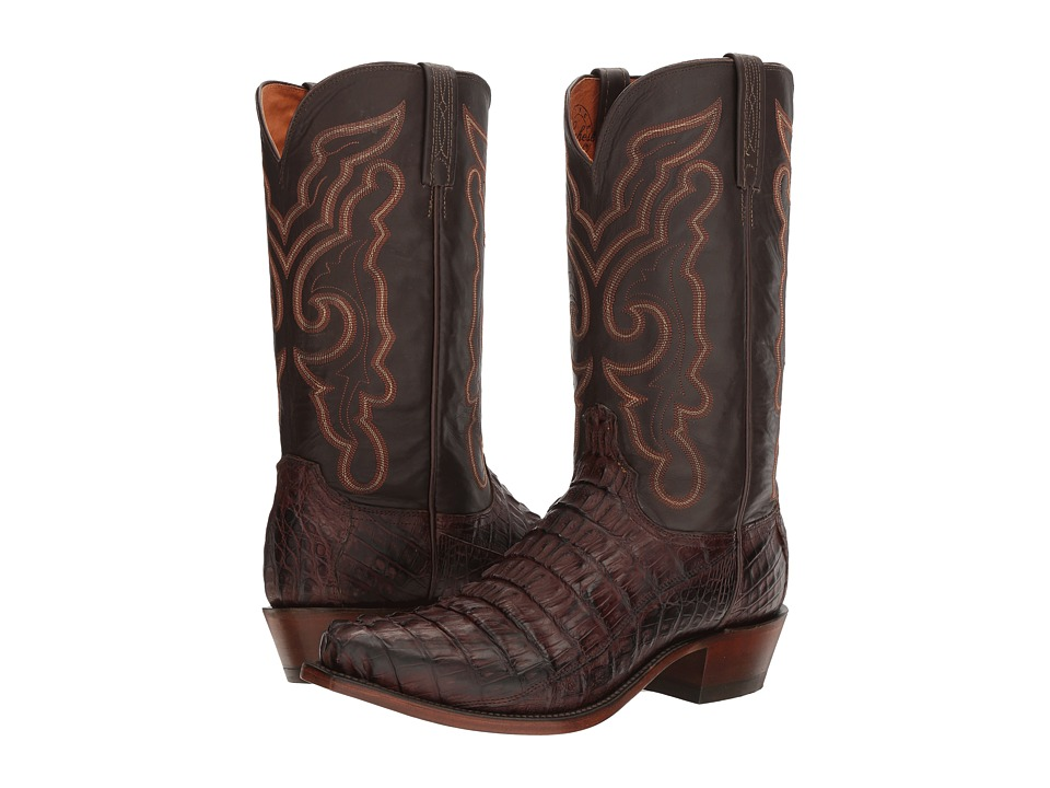 Lucchese Franklin (Barrel Brown) Cowboy Boots