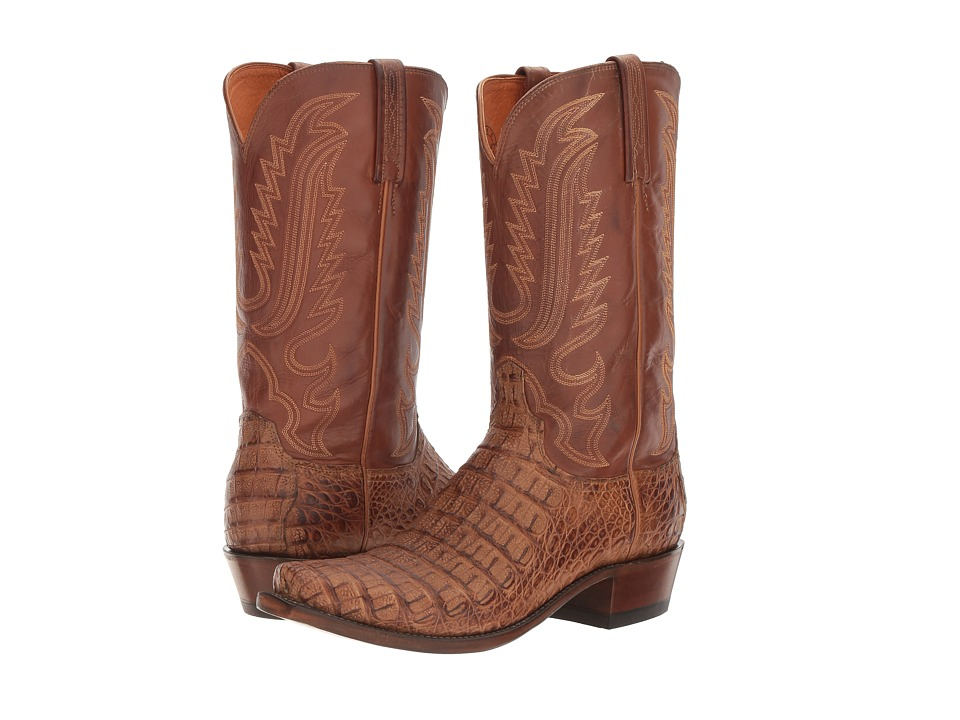 Lucchese Walter (Tan Burnished) Cowboy Boots