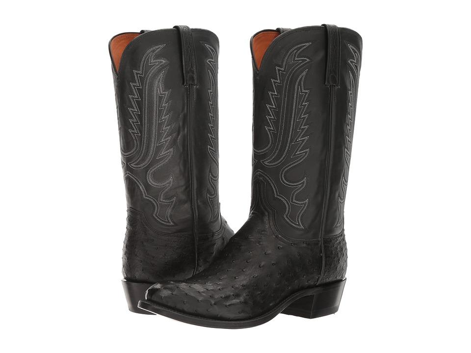 Lucchese Hueco (Black) Cowboy Boots