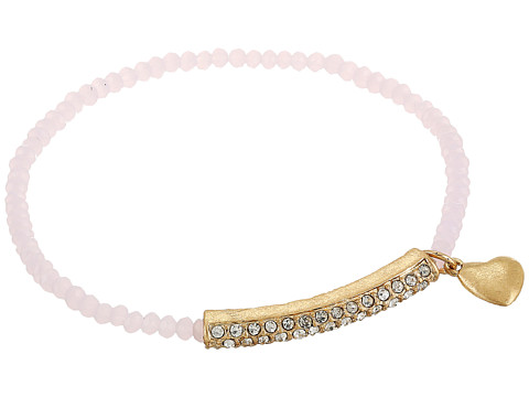 The Sak Heart Pave Stretch Bracelet - Pink