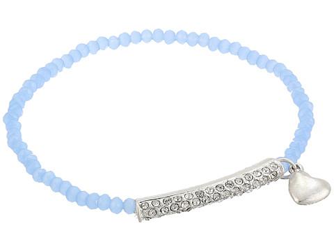 The Sak Heart Pave Stretch Bracelet - Blue