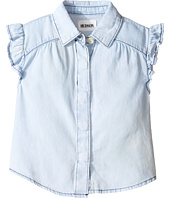 Hudson Kids - Chambray Ruffle Shirt (Toddler/Little Kids)