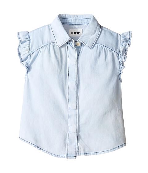 Hudson kids chambray ruffle shirt toddler little kids at for Chambray shirt for kids