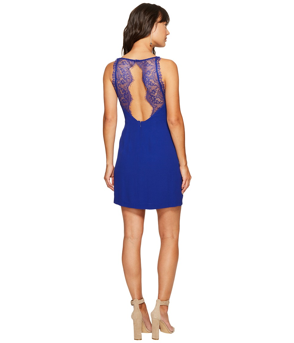 kensie Texture Crepe Dress with Lace Back KS6K7993 (Dark Sapphire) Women