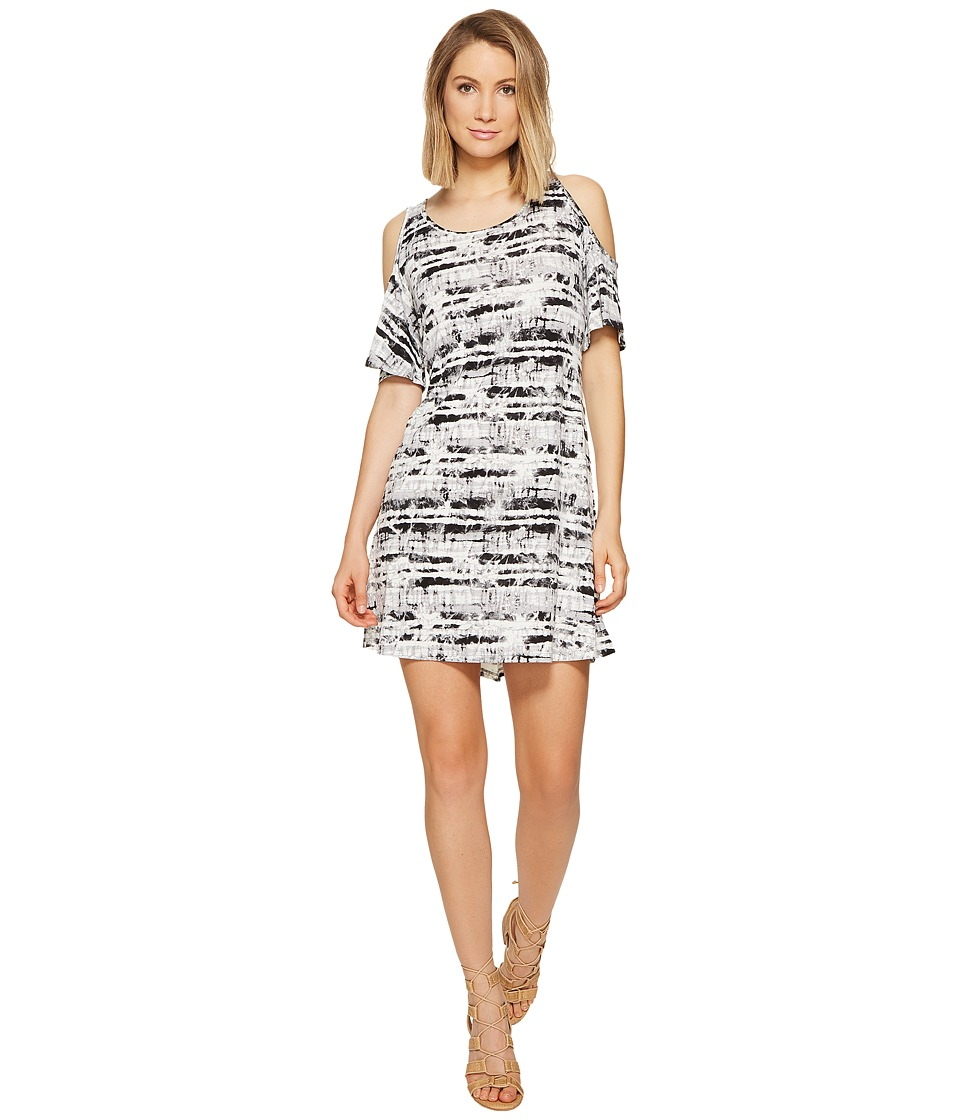 kensie Stamped Tie-Dye Dress KS6K7982 (Silver Combo) Women