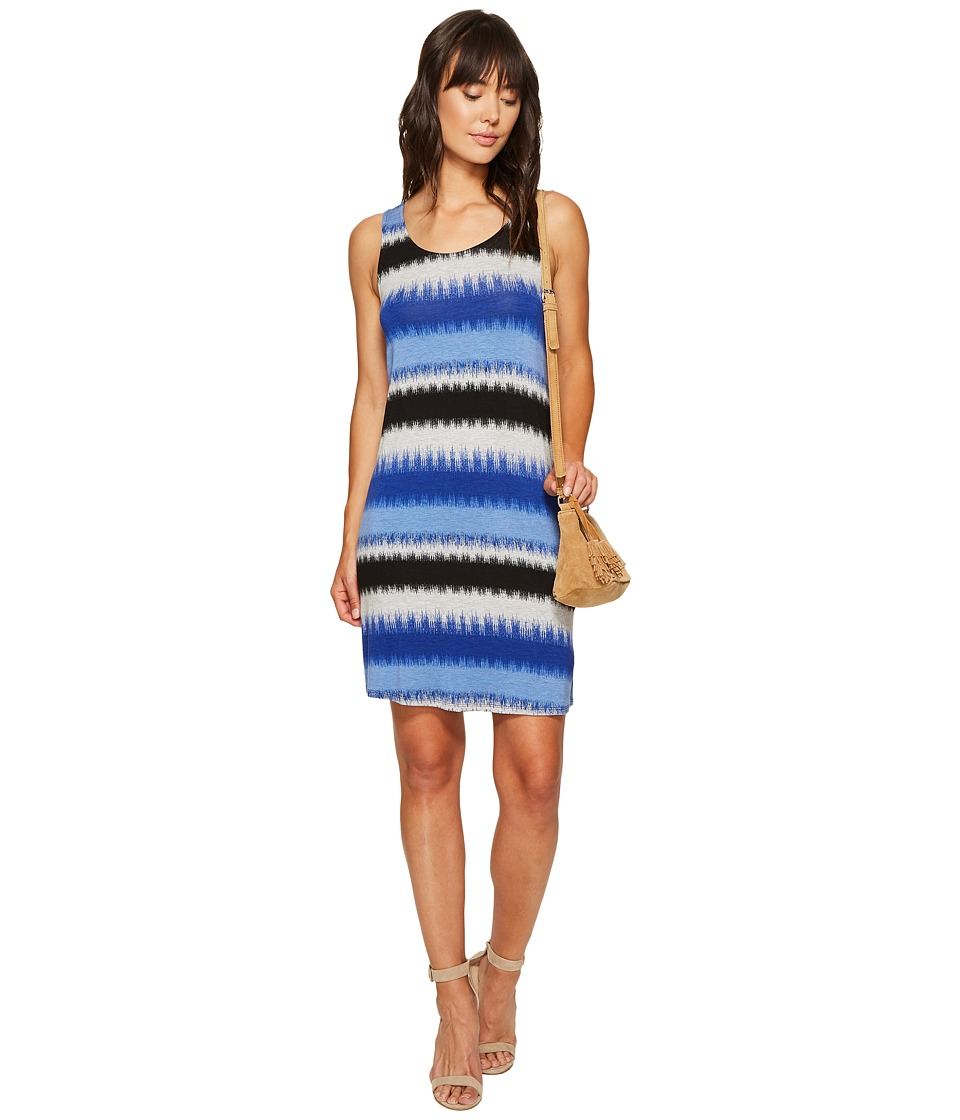 kensie Burst Stripes Dress KS6K9569 (Dark Sapphire Combo) Women