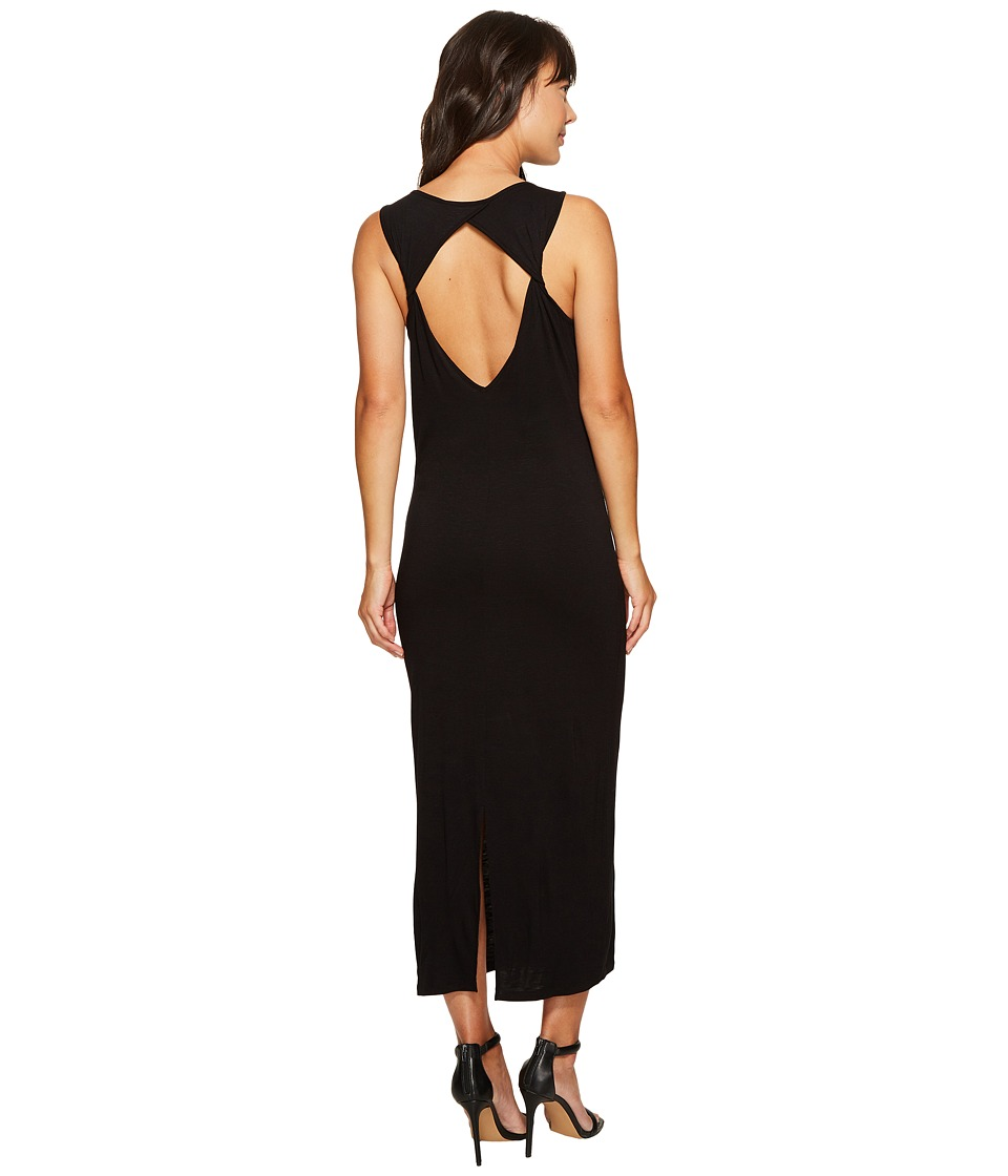 kensie Subtle Slub Tees Dress with Open Back KS6K7978 (Black) Women