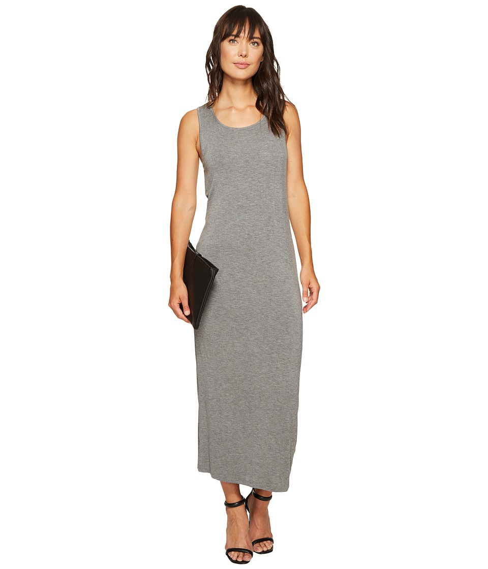 kensie Subtle Slub Tees Dress with Open Back KS6K7978 (Heather Ash) Women