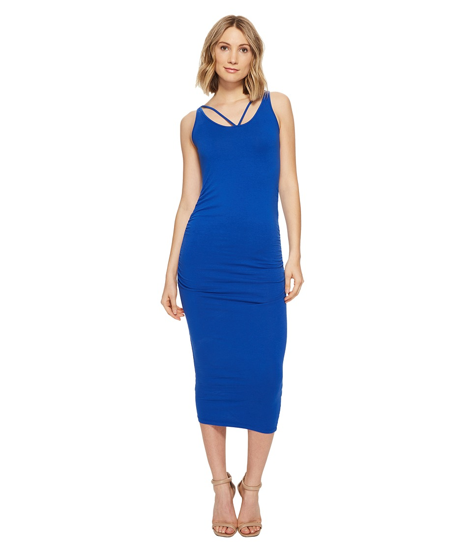 Michael Stars Front To Back Midi Dress w/ Shirring (Bayside) Women