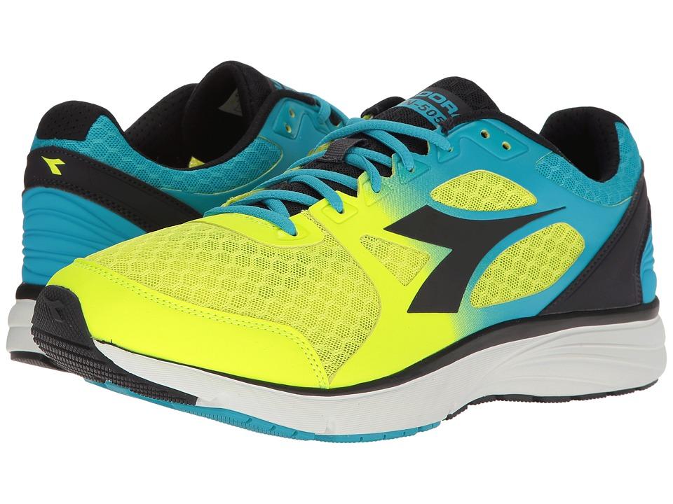 Diadora Run 505 (Fluo Cyan/Fluo Yellow/Black) Men