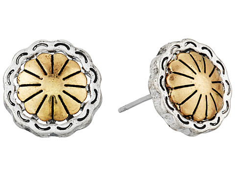 The Sak Concho Metal Stud Earrings - Two-Tone