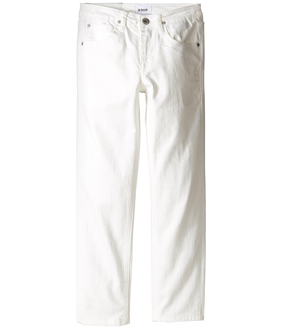 Hudson Kids Jagger Slim Straight Five-Pocket in White (Big Kids) (White) Boy